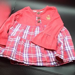 Carter's 2T Pink Plaid Blouse
